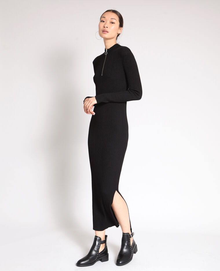 1cd631cb143 Robe longue moulante noir - 780914899A08
