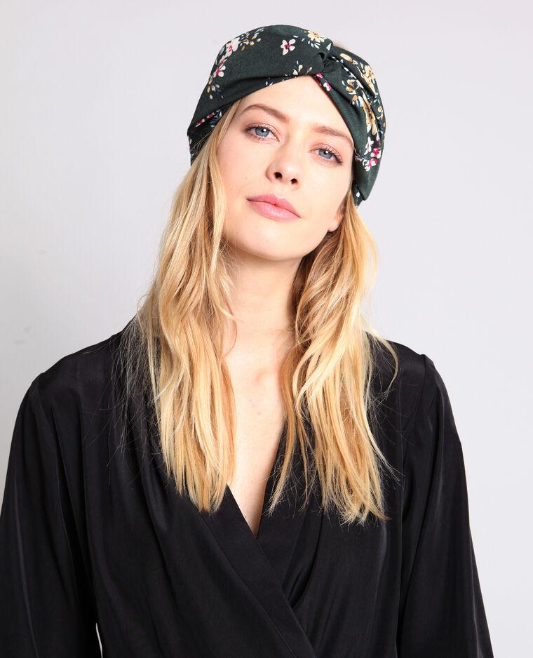 Headband à fleurs vert