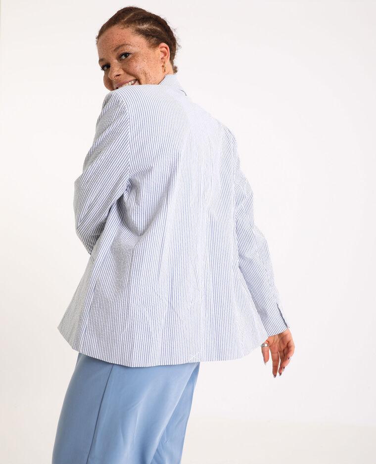 Blazer à rayures blanc