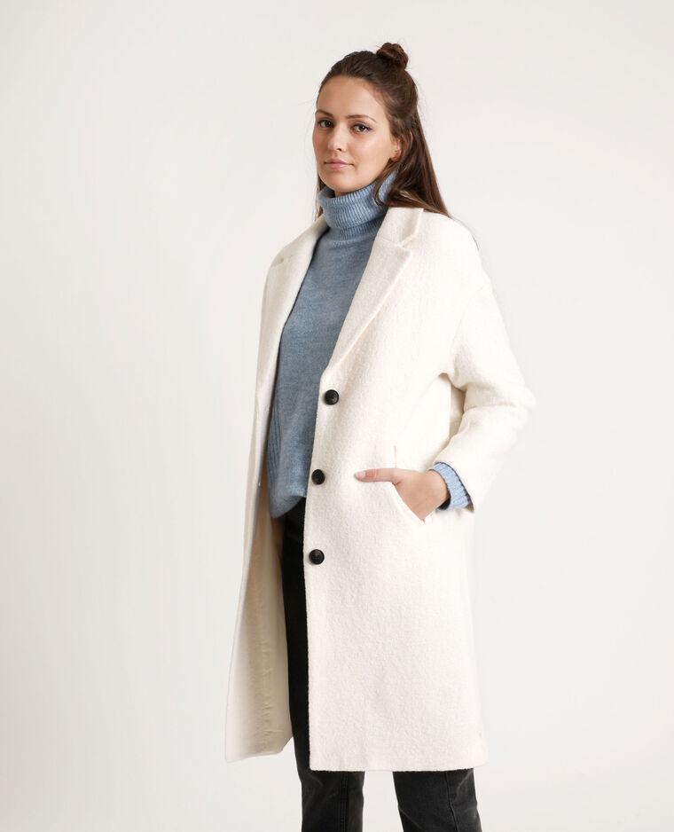 vente chaude en ligne f6daf b05fa Manteau long avec laine