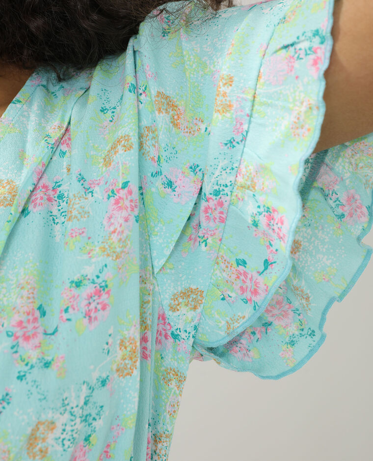 Top fleuri turquoise - Pimkie
