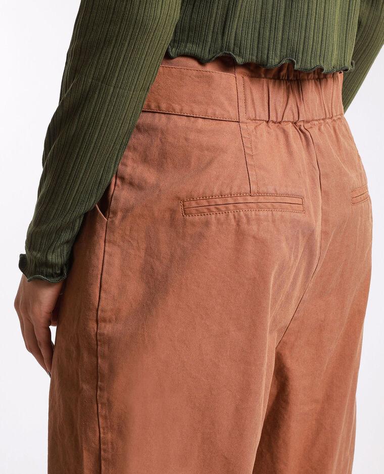 Pantalon carotte marron