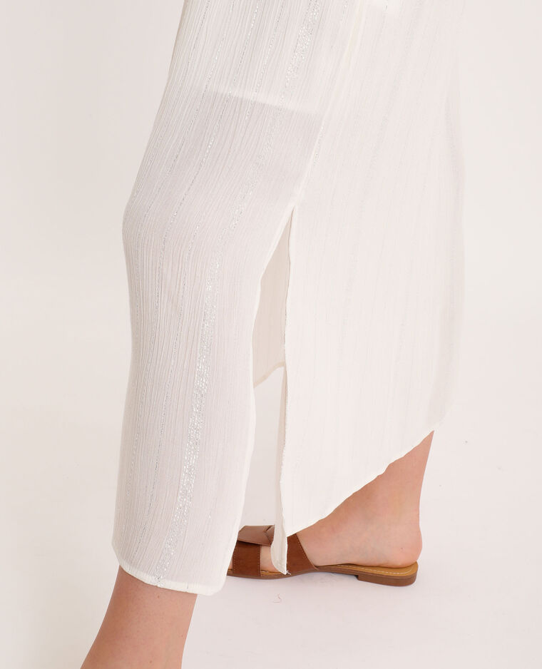 Robe à fines bretelles blanc - Pimkie