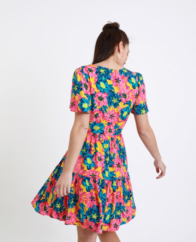 Robe à fleurs rose - Pimkie