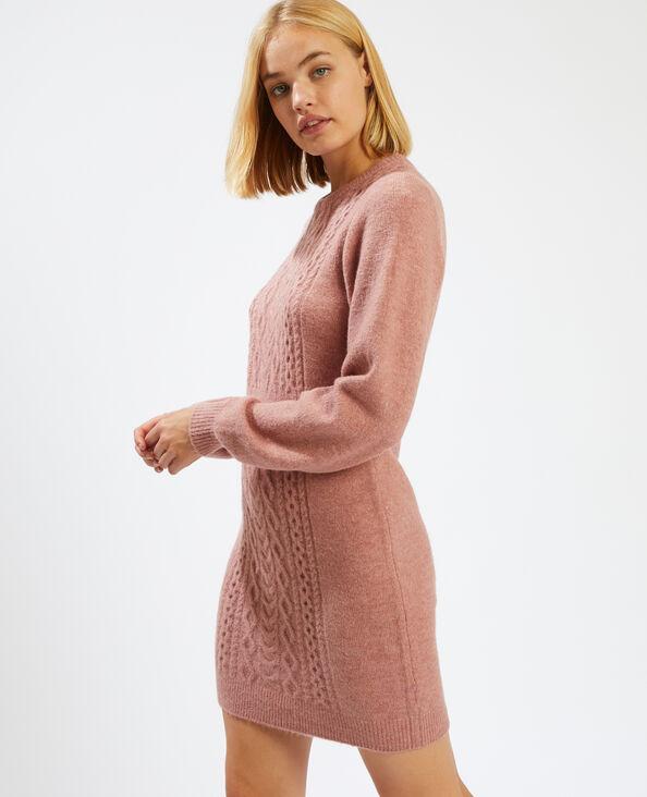 Robe pull torsadée rose - Pimkie