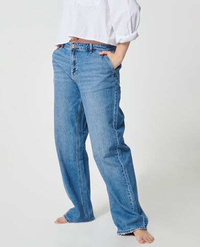 Jean large bleu denim - Pimkie