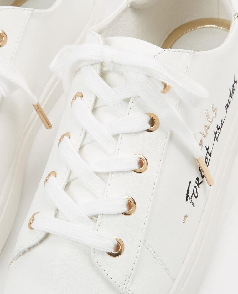 Baskets à message blanc - Pimkie