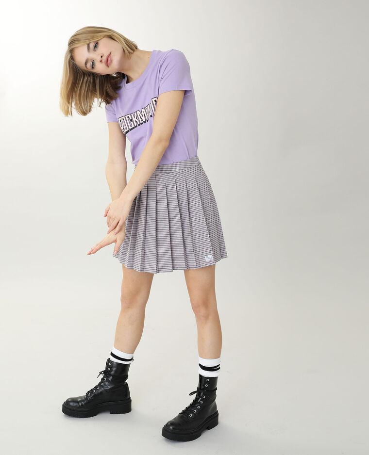T-shirt à message violet