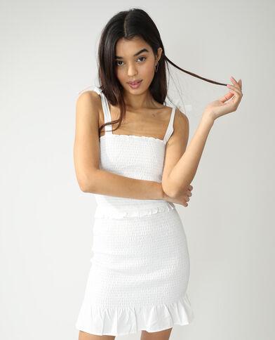 Robe smockée blanc cassé - Pimkie