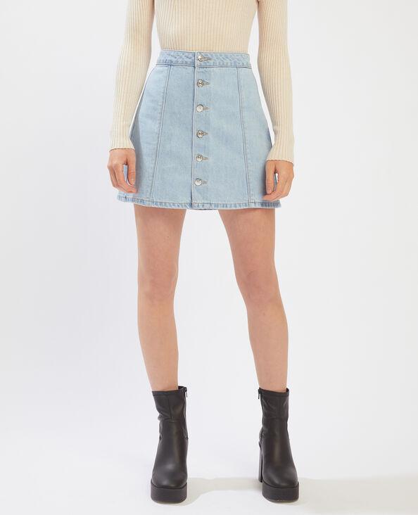 Jupe courte en jean bleu clair - Pimkie