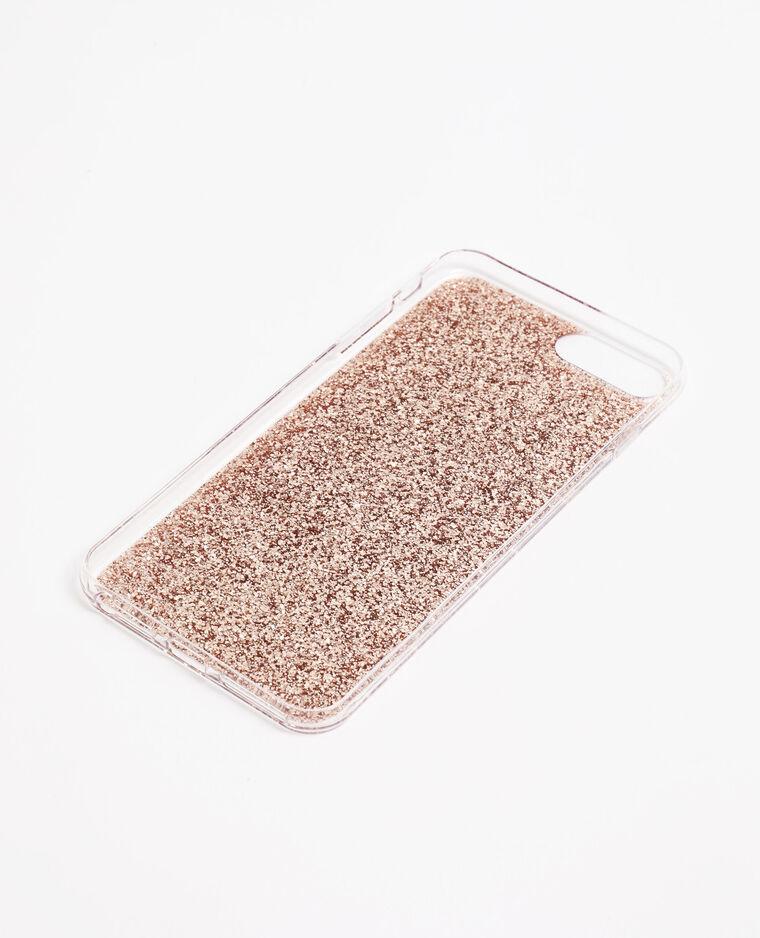 Coque iPhone à paillettes doré