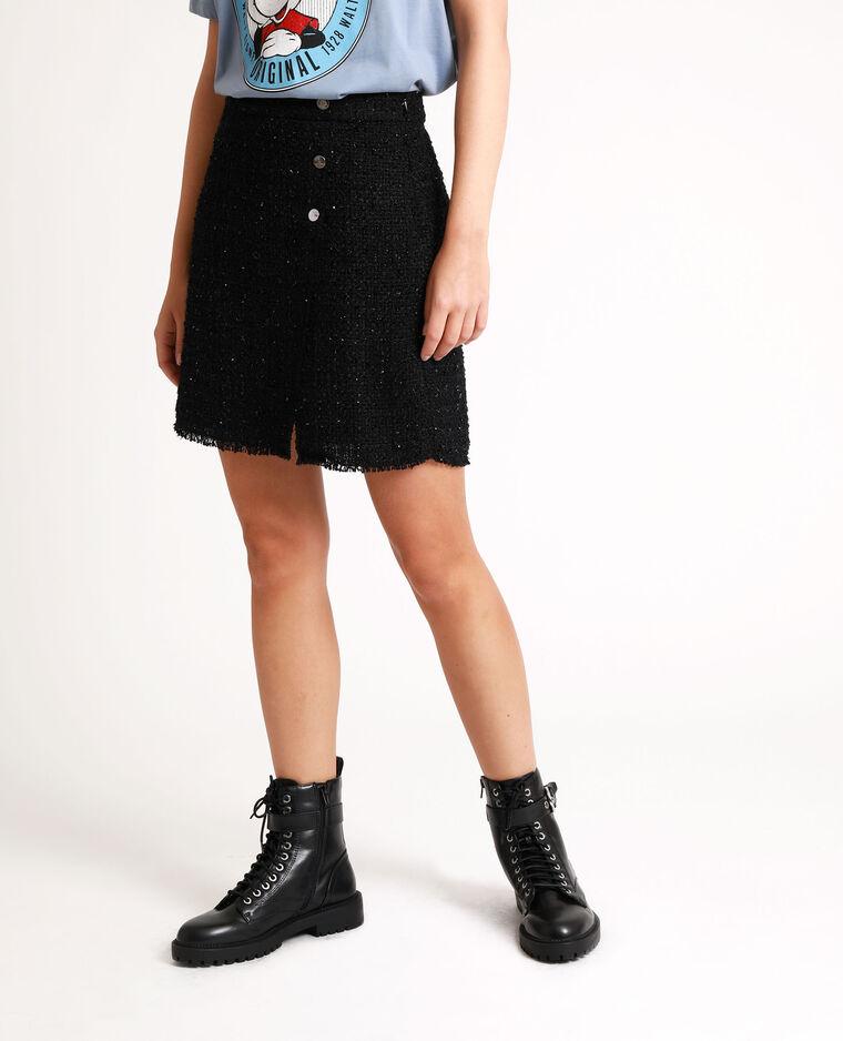 Jupe tweed noir