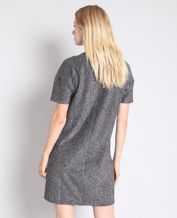 Robe métalisée à message gris