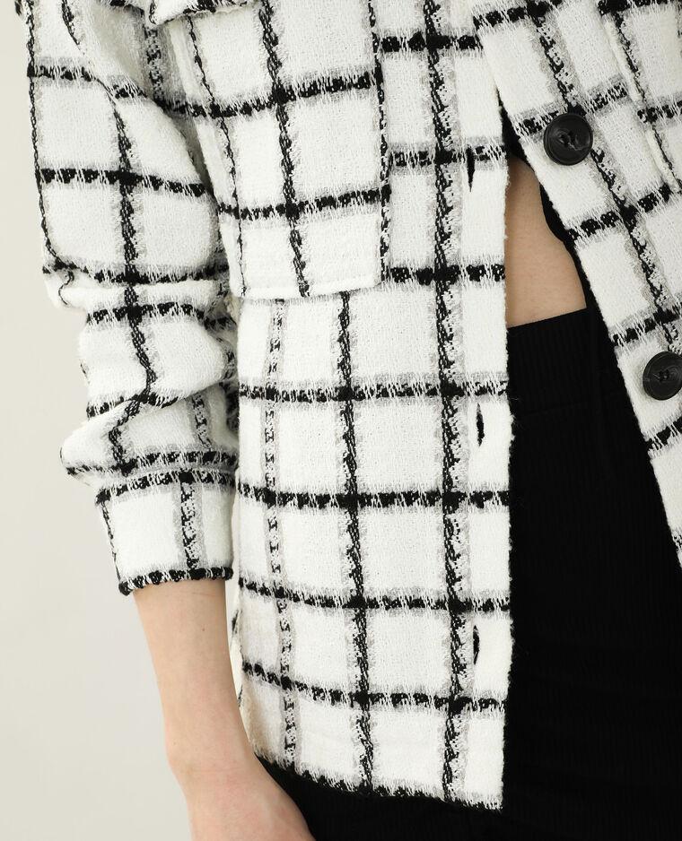 Veste en tweed oversize blanc