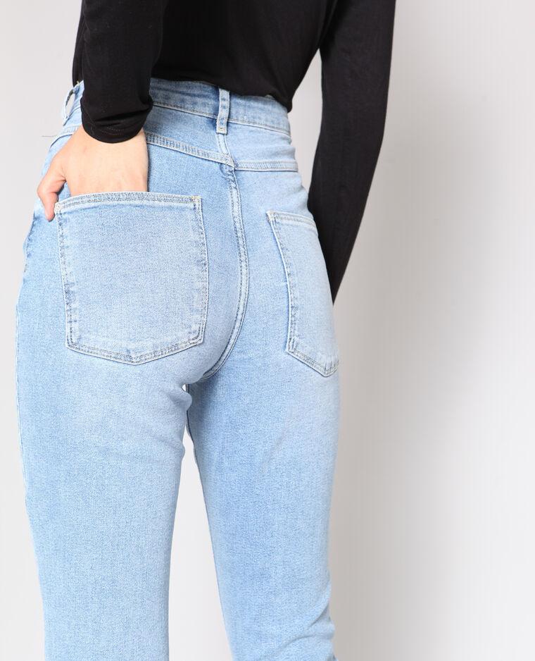 Jean slim taille haute bleu