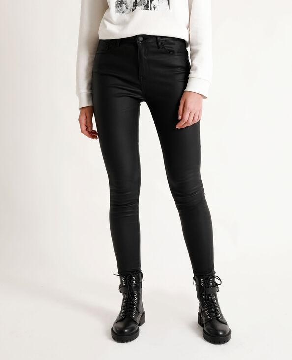 Skinny enduit noir