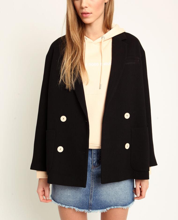 Manteau court noir