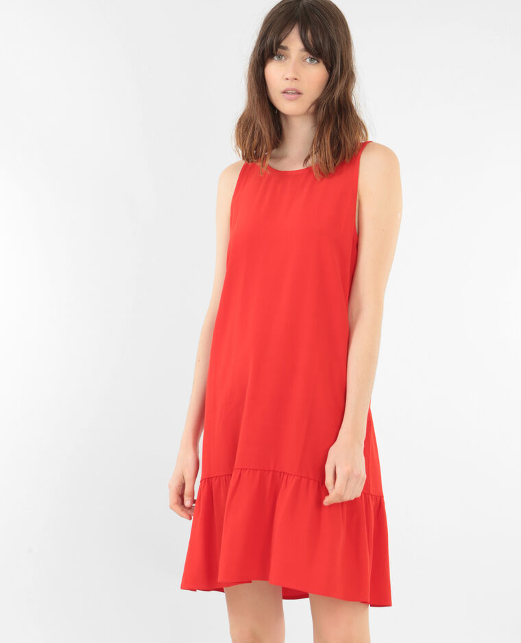 Robe A Volants Rouge 780630344a03 Pimkie