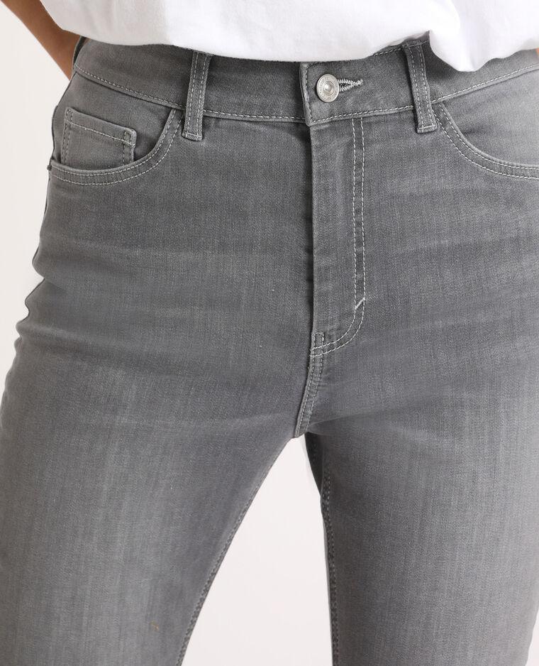 Jean skinny high waist gris