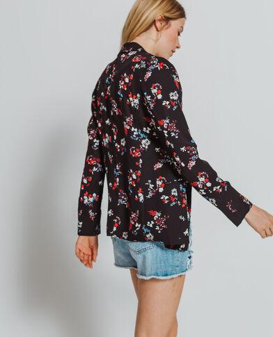 Blazer imprimé fleuri noir - Pimkie