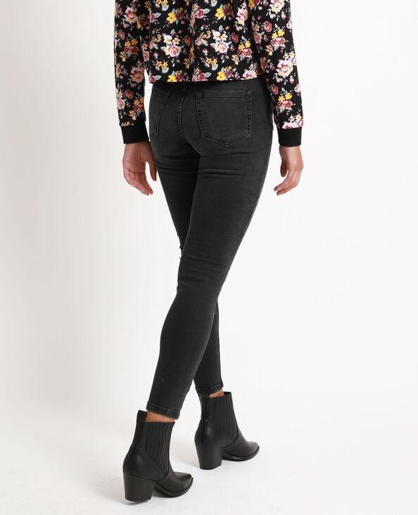 Jean skinny mid waist noir