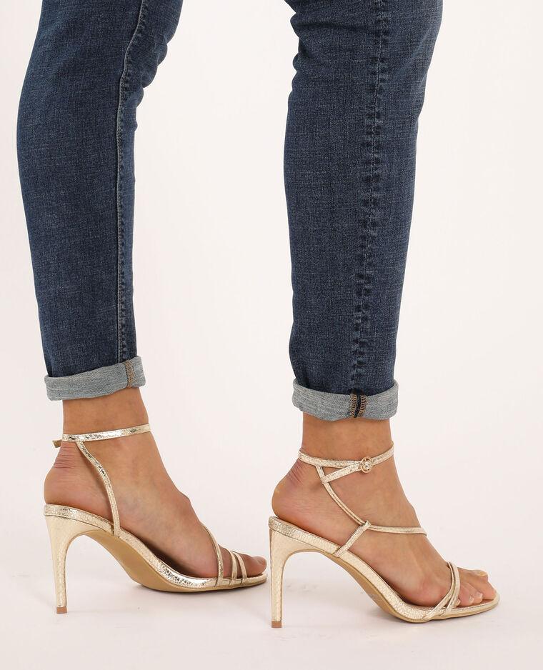 Sandales à talons jaune