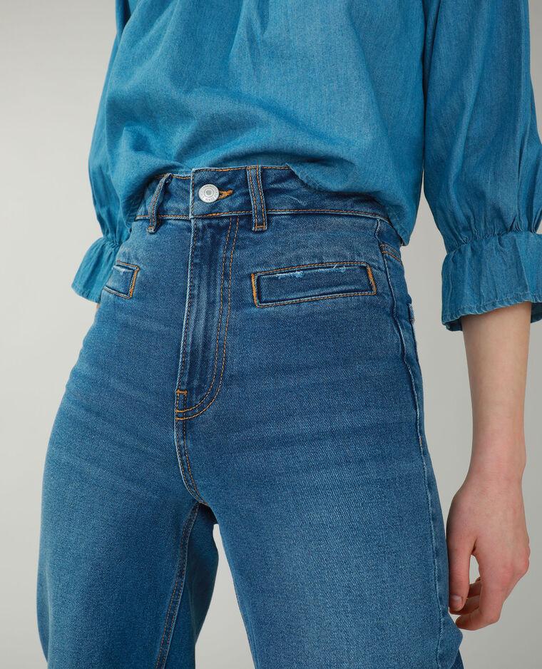 Jean flare bleu denim