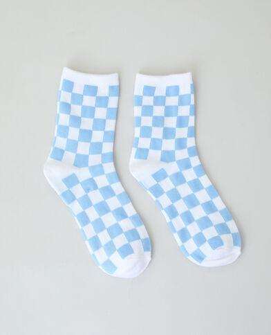 Chaussettes à damier bleu - Pimkie