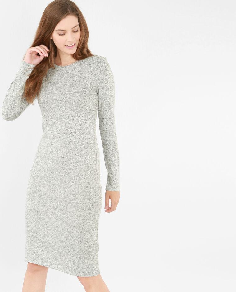 b5fe2b77122 Robe pull longue gris chiné - 781213830J08