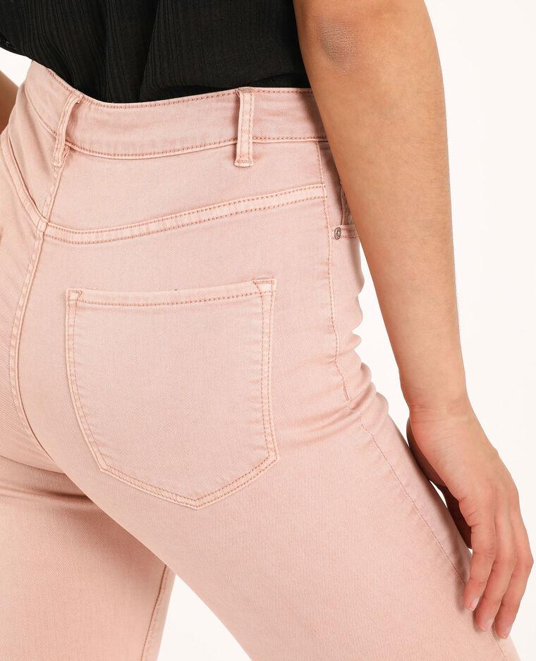Pantalon skinny high waist rose