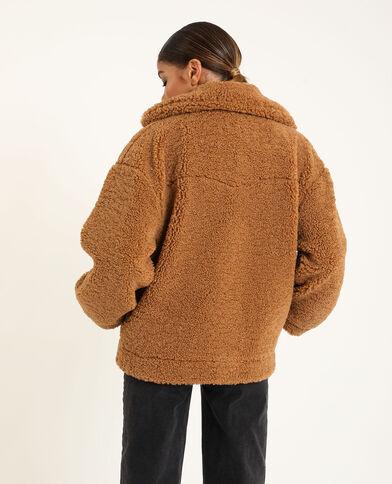 Veste en doudou marron