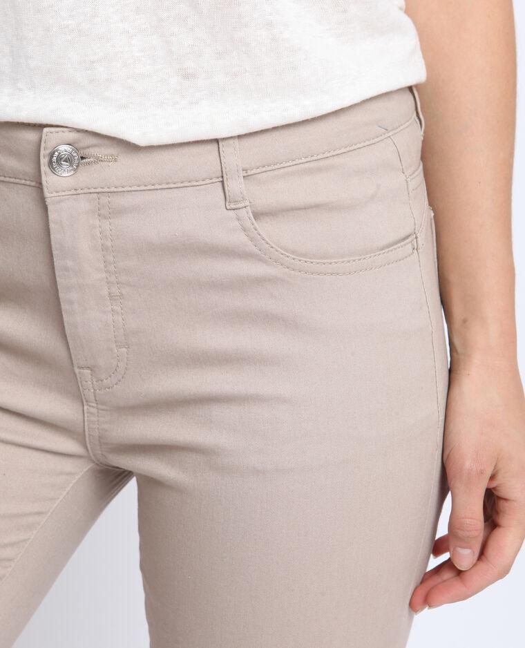 Pantalon push up mid waist beige