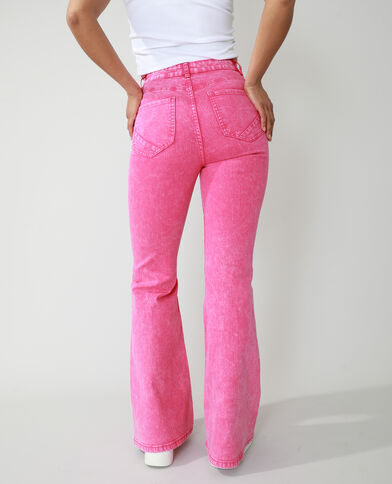 Jean flare high waist rose - Pimkie