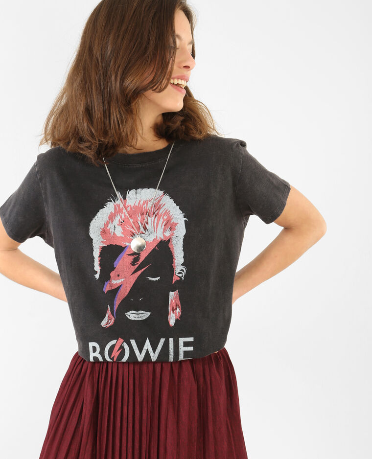T-shirt David Bowie noir