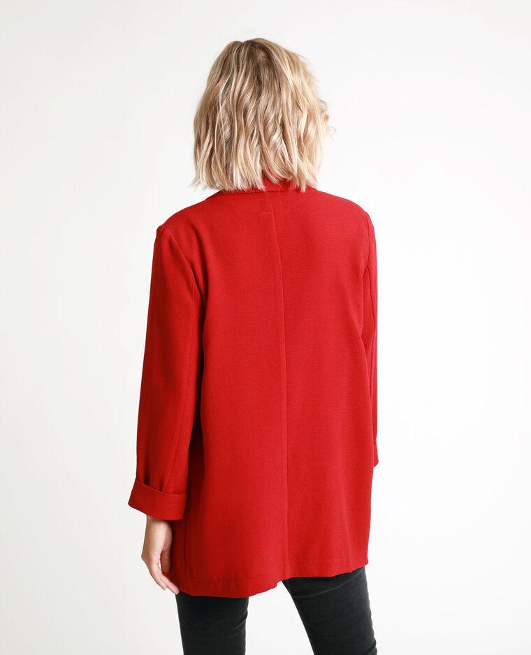 Blazer fin rouge