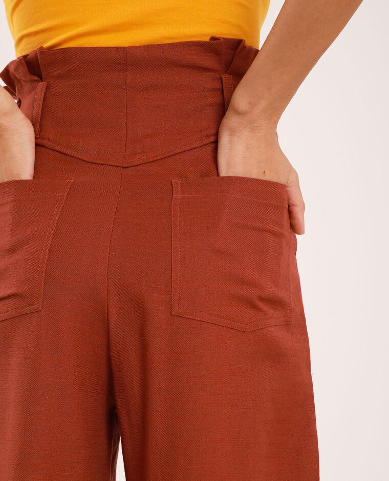 Pantalon large beige poudré
