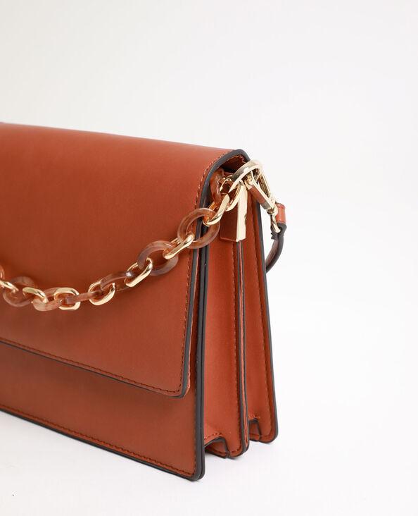 Petit sac avec anse en écailles caramel