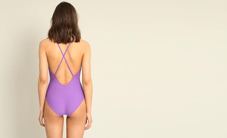 Maillot de bain une pièce violet