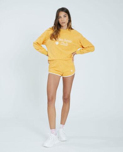 Sweat éponge jaune - Pimkie