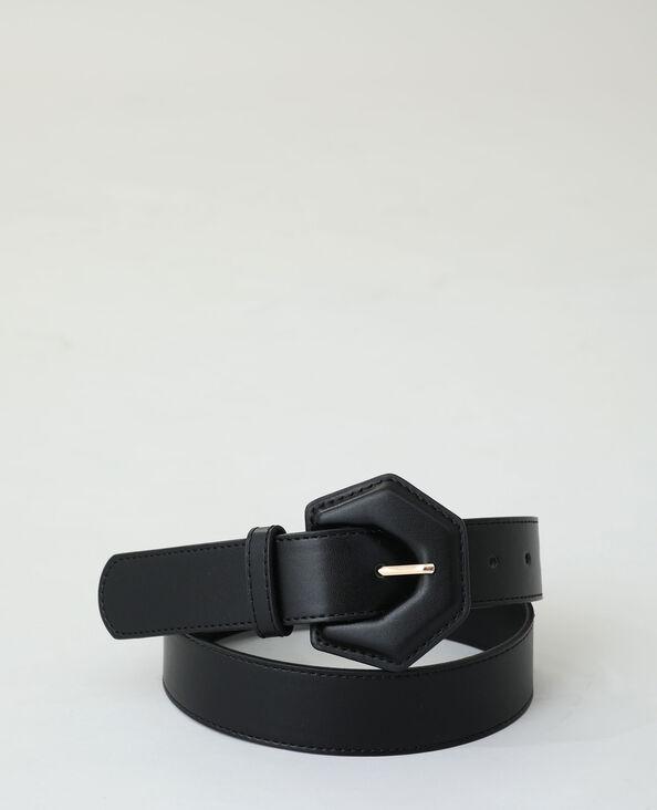 Ceinture simili cuir noir