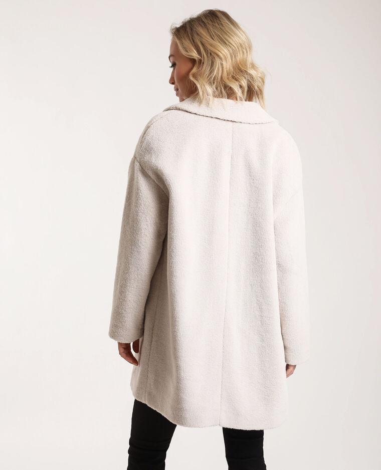 Manteau en fausse fourrure blanc - Pimkie