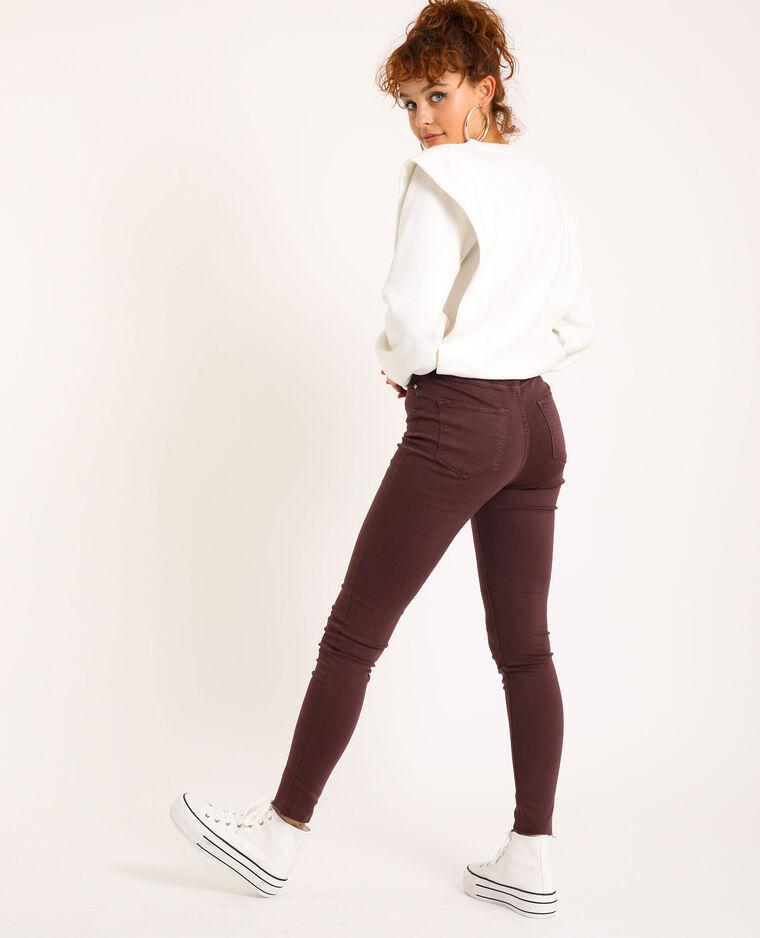 Skinny high waist Bordeaux