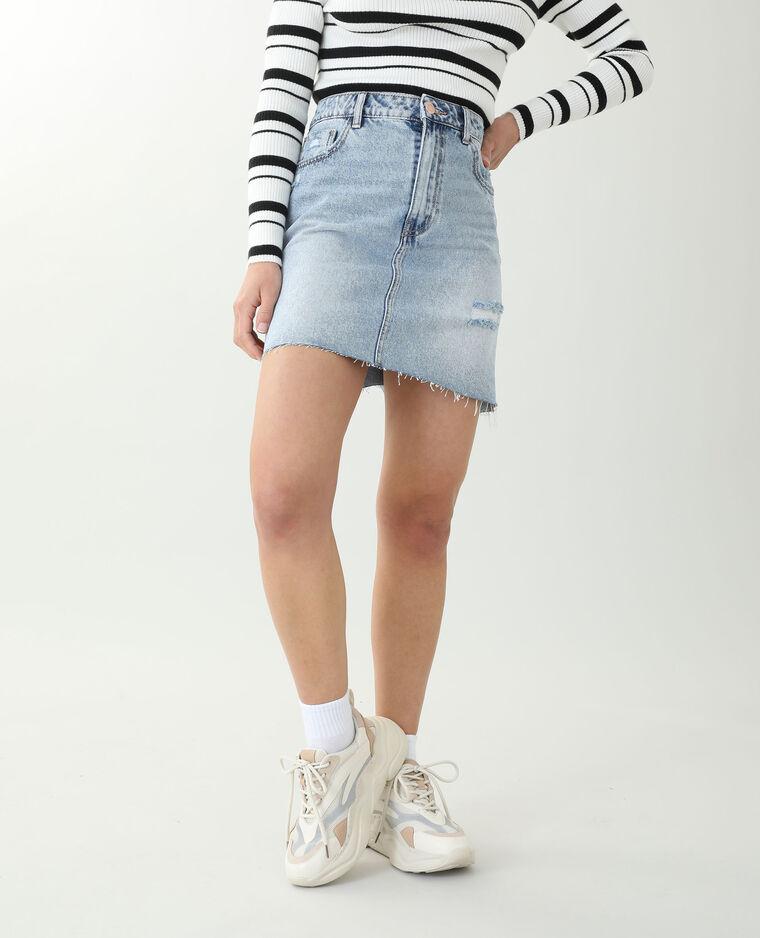 Jupe en jean bleu denim - Pimkie