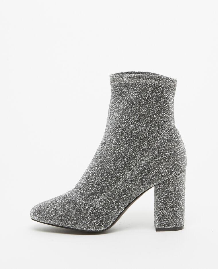 Boots à talons gris argenté - Pimkie