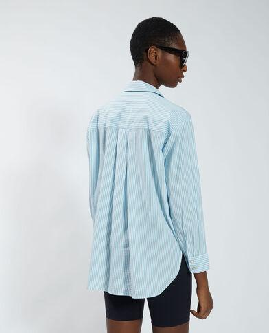 Chemise rayée bleu - Pimkie