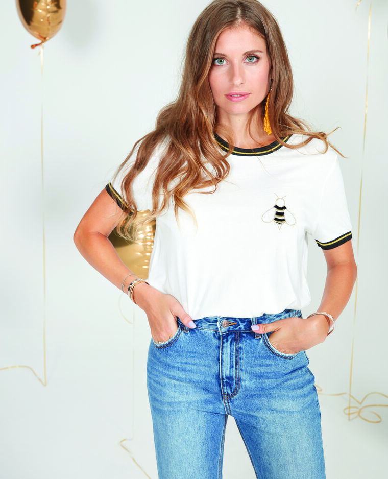 T-shirt Cathy Hummels blanc cassé