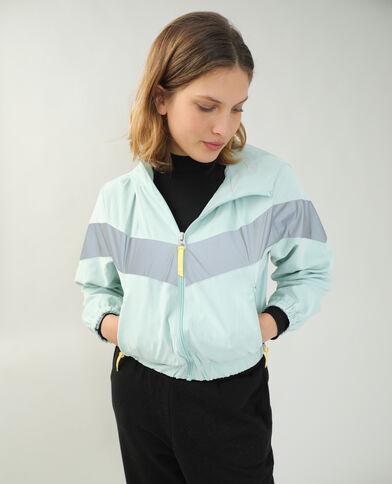 Veste coupe-vent à capuche vert d'eau - Pimkie