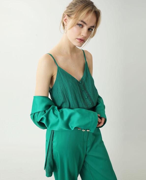 Top plumetis vert - Pimkie