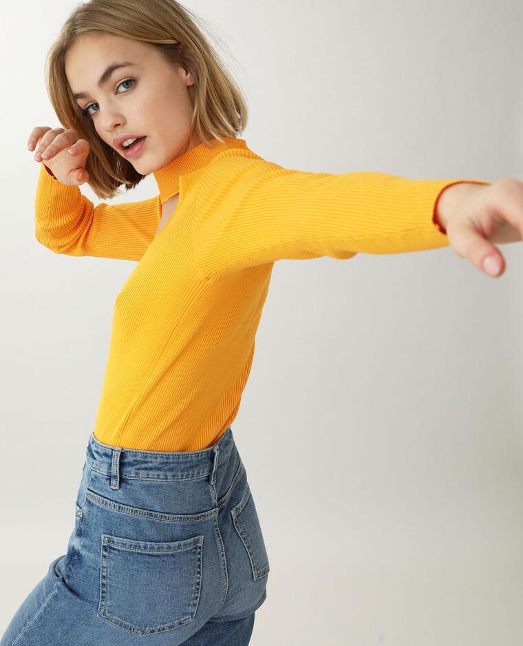 Pull ouvert orange fluo - Pimkie