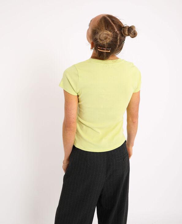 T-shirt basique Jaune - Pimkie